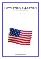 Cover icon of Patriotic Collection, USA Tunes and Songs sheet music for alto saxophone and piano, easy skill level