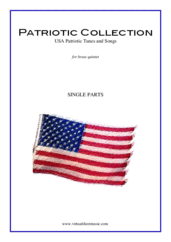 Cover icon of Patriotic Collection, USA Tunes and Songs (parts) sheet music for brass quintet, intermediate skill level