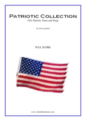 Cover icon of Patriotic Collection, USA Tunes and Songs (f.score) sheet music for brass quintet, intermediate brass quintet