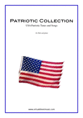 Cover icon of Patriotic Collection, USA Tunes and Songs sheet music for flute and piano, easy flute