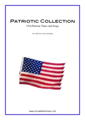 Cover icon of Patriotic Collection, USA Tunes and Songs sheet music for violin (or voice) and piano, easy violin