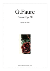 Cover icon of Pavane Op.50 sheet music for flute and piano by Gabriel Faure, classical score, intermediate flute