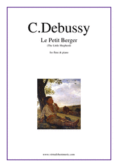 Cover icon of Le Petit Berger (The Little Shepherd) sheet music for flute and piano by Claude Debussy, classical score, intermediate