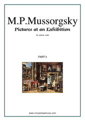 Cover icon of Pictures at an Exhibition, part II sheet music for piano solo by Modest Petrovic Mussorgsky, classical score, intermediate/advanced