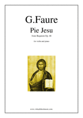 Cover icon of Pie Jesu (Blessed Jesu) sheet music for violin and piano by Gabriel Faure, classical wedding score, easy