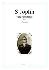 Cover icon of Pine Apple Rag (parts) sheet music for brass quartet by Scott Joplin, classical score, intermediate