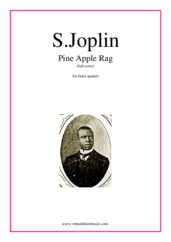 Cover icon of Pine Apple Rag (COMPLETE) sheet music for brass quartet by Scott Joplin, classical score, intermediate skill level