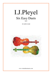 Cover icon of Six Easy Duets Op.8 sheet music for violin and viola by Ignaz Joseph Pleyel, classical score, easy duet