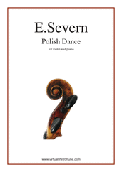 Cover icon of Polish Dance, Op. 82 sheet music for violin and piano by Edmund Severn, classical score, intermediate/advanced skill level