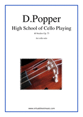 High School of Cello Playing, 40 Studies Op.73
