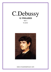 Cover icon of Preludes (COMPLETE) sheet music for piano solo by Claude Debussy