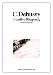 Cover icon of Premiere Rhapsody sheet music for clarinet and piano by Claude Debussy, classical score, intermediate/advanced
