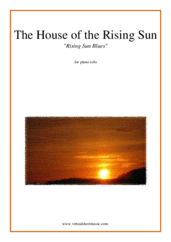 Cover icon of The House of the Rising Sun sheet music for piano solo, easy skill level