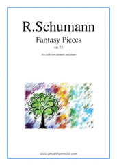 Cover icon of Fantasy Pieces Op.73 sheet music for cello (or clarinet) and piano by Robert Schumann
