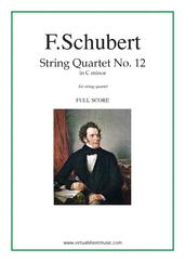 Quartet No. 12 in C minor (f.score)
