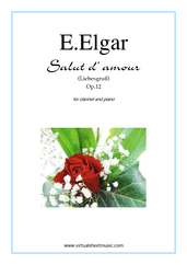 Cover icon of Salut d' Amour Op.12 sheet music for clarinet and piano by Edward Elgar, classical score, intermediate
