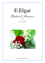 Cover icon of Salut d' Amour Op.12 sheet music for viola and piano by Edward Elgar, classical score, intermediate/advanced skill level