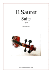 Cover icon of Suite Op.68 sheet music for violin solo by Emile Sauret, classical score, advanced violin