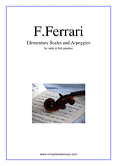 Cover icon of Elementary Scales and Arpeggios sheet music for cello solo by Fabrizio Ferrari, easy skill level