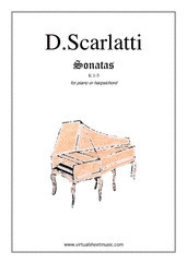 Cover icon of Sonatas K 1-5 sheet music for piano solo (or harpsichord) by Domenico Scarlatti, classical score, easy/intermediate piano (or harpsichord)