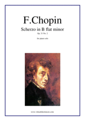 Cover icon of Scherzo in B flat minor Op. 31 No. 2 sheet music for piano solo by Frederic Chopin, classical score, advanced