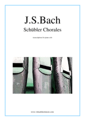 Cover icon of Schubler Chorales sheet music for piano solo by Johann Sebastian Bach, classical score, intermediate
