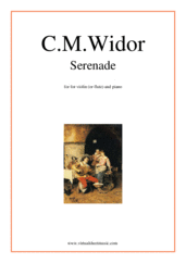 Cover icon of Serenade sheet music for violin (or flute) and piano by Charles Marie Widor, classical score, intermediate/advanced skill level