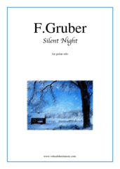 Cover icon of Silent Night sheet music for guitar solo by Franz Gruber, easy skill level