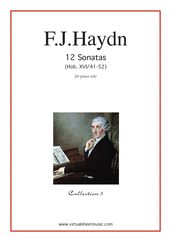 Cover icon of Sonatas, coll.5 - Hob. XVI/41-52 sheet music for piano solo by Franz Joseph Haydn, classical score, easy/intermediate piano