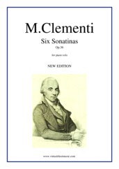 Cover icon of Six Sonatinas Op.36 sheet music for piano solo by Muzio Clementi, classical score, easy