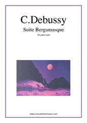 Cover icon of Suite Bergamasque sheet music for piano solo by Debussy