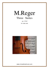 Cover icon of Three Suites Op.131d sheet music for viola solo by Max Reger, classical score, advanced skill level