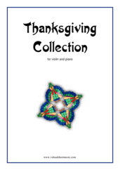 Cover icon of Thanksgiving Collection sheet music for violin and piano, easy