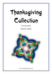 Cover icon of Thanksgiving Collection (parts) sheet music for string quartet, easy string quartet