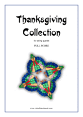 Cover icon of Thanksgiving Collection (f.score) sheet music for string quartet, easy string quartet