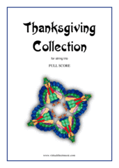 Cover icon of Thanksgiving Collection (COMPLETE) sheet music for string trio, easy string trio
