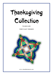 Cover icon of Thanksgiving Collection (for beginners) sheet music for piano solo, beginner
