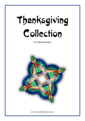 Cover icon of Thanksgiving Collection sheet music for viola and piano, easy skill level