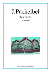 Cover icon of Toccatas sheet music for organ solo by Johann Pachelbel, classical score, intermediate/advanced skill level