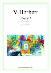 Cover icon of Toyland sheet music for voice and piano by Victor Herbert, classical wedding score, intermediate skill level