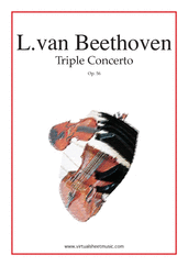 Cover icon of Triple Concerto Op.56 sheet music for violin, cello, piano and orchestra by Ludwig van Beethoven, classical score, advanced