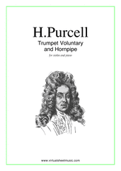 Cover icon of Trumpet Voluntary and Hornpipe sheet music for violin and piano by Henry Purcell, classical wedding score, easy/intermediate skill level