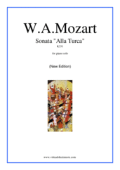 Sonata 'Alla Turca' K331 (New Edition) for piano solo - wolfgang amadeus mozart sonata sheet music