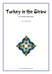 Cover icon of Turkey in the Straw sheet music for clarinet and piano, easy