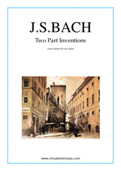 Cover icon of Two Part Inventions sheet music for two flutes by Johann Sebastian Bach