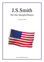 Cover icon of The Star Spangled Banner - USA Anthem sheet music for piano four hands by John Stafford Smith, easy/intermediate skill level