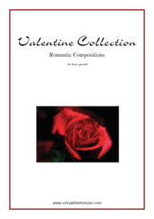 Cover icon of Valentine Sheet Music (parts) for brass quartet, classical score, intermediate/advanced skill level