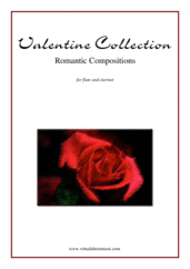 Cover icon of Valentine Sheet Music for flute and clarinet, classical score, intermediate/advanced duet