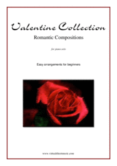 "Cover icon of Valentine Sheet Music ""For Beginners"" for piano solo, classical score, easy piano"