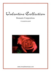 Cover icon of Valentine Sheet Music (parts) for saxophone quartet, classical score, intermediate/advanced